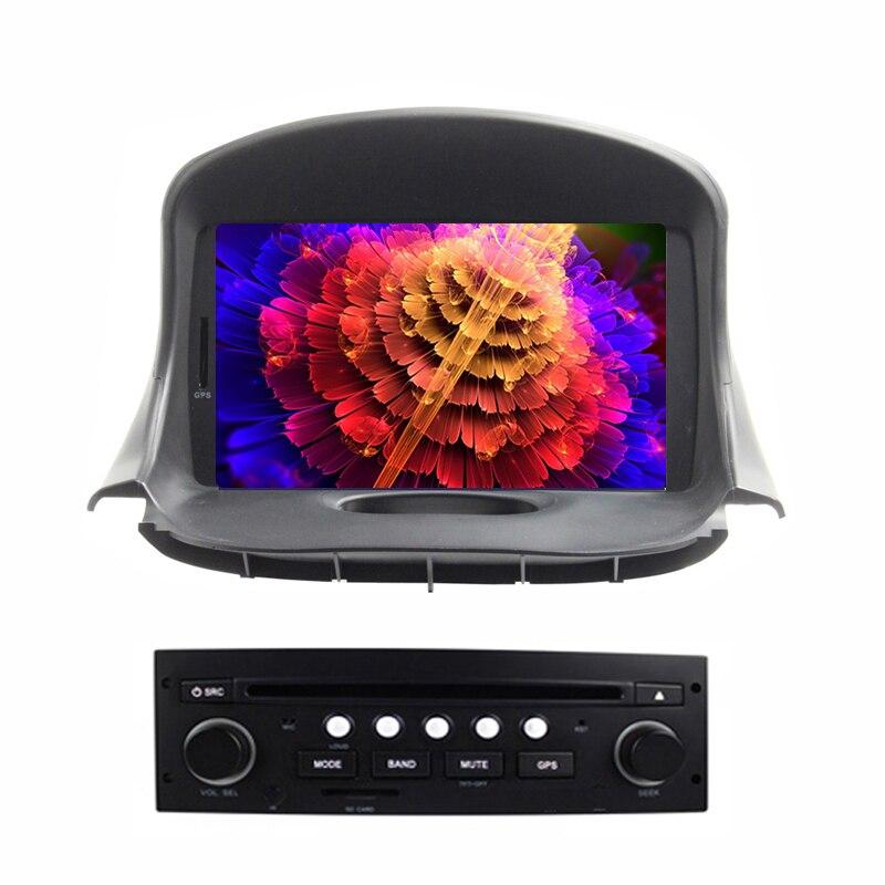 Quad Core Android 6.0 voiture DVD GPS pour PEUGEOT 206 206cc Navigation, Bluetooth, Radio, IPOD, CAN-BUS, stéréo, unité de tête, Audio, vidéo