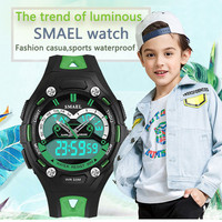 New Fashion SMAEL Brand Children Sports Watches LED Digital Quartz Military Boy Girl Kids Watch Multifunctional