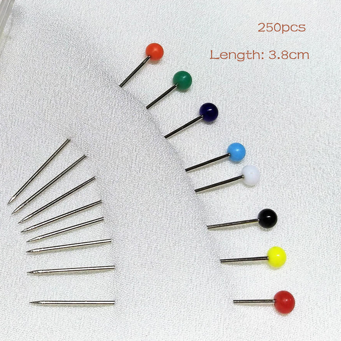 new 250pcs glass pearlized head pins multicolor white dressmaking sewing pin for diy sewing