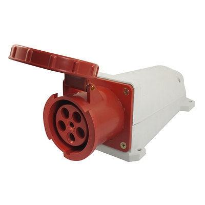 High Quality AC 220-380V/240-415V 63A 6 Pin Panel Mounting IEC309-2 Industrial Socket water proof ip67 32a 3p e iec309 2 industrial socket ac 220 380v 240 415v