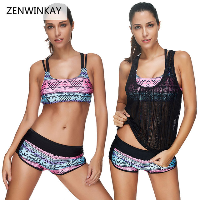 5418232087 Bathing Suits Women Tankini Shorts Swimsuit Cover Ups Plus Size Swim Wear  Push Up Swimwear 2018