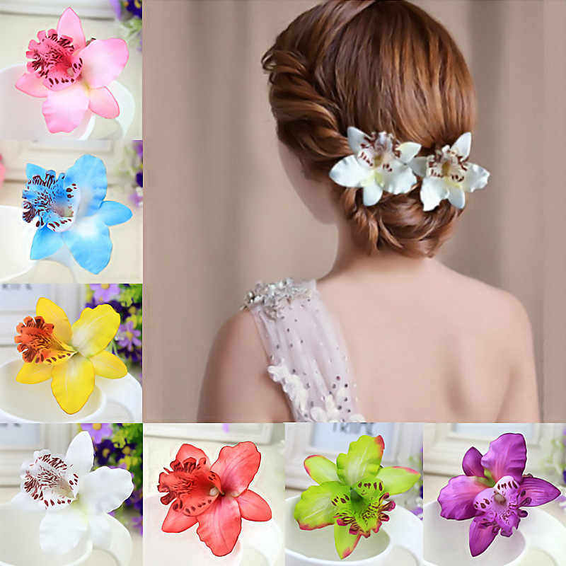 Bohemian Seaside Beach Photo shoot simulation flowers Hair Clip For Girls Women Hairpin Hair Accessories Blooming Wholesale