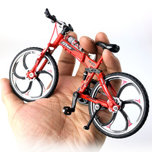 1:10 Scale Diecast Metal Bicycle Model City Folded Cycling Road Bike For Collection Toy