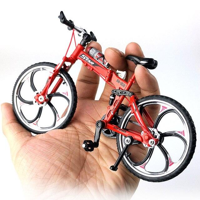 Bicicleta de carretera de Metal fundido a presión, escala 1:10, juguete de colección