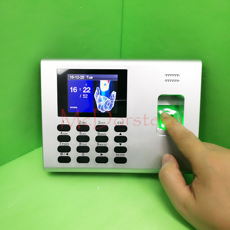 Tcp/ip Build in Backup Battery Biometric Fingerprint Time Clock Recorder Attendance Employee Electronic Punch Reader Machine good quality tcp ip linux system biometric fingerprint time attendance time clock employee attending control u100 finger clock