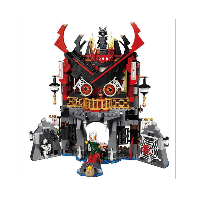 857pcs Temple of Resurrection's Dark Fortress 06078 Model Building Blocks Assemble Toy Brick Compatible марк бойков 泰坦尼克之复活 возвращение титаника resurrection of titanic