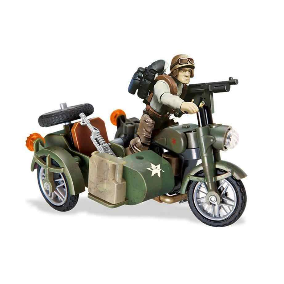 Military 1:36 scale Sirius Commandos Anti-terrorism in the Jungle mega block army action figures Side Wheel Motorcycle brick toy