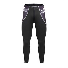 2017 Skull Pants Men Fitness Mens Joggers Compression Pants Male Trousers Bodybuilding Tights Leggings Elastic Breathable Fabric