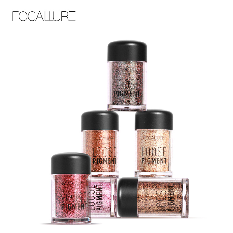FOCALLURE 12 Colors Glitter Eye Shadow Powder Powder Shimmer Pigment - Grim