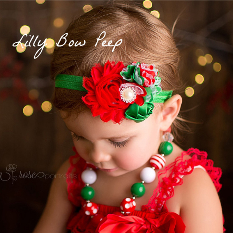 1PC Christmas Gift New Baby Girl Headband Hair Bands Boutique Children Accessories Baby Hairband Flower Headwear 210 girl headwear spring flower baby girl hair clip hairpin kids children hair accessories kk1718