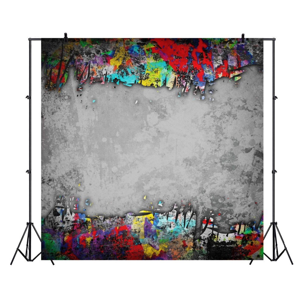 Laeacco Cement Wall Graffiti Colorful Pattern Baby Doll Pet Portrait Photographic Backdrops Photo Background For Photo Studio in Background from Consumer Electronics