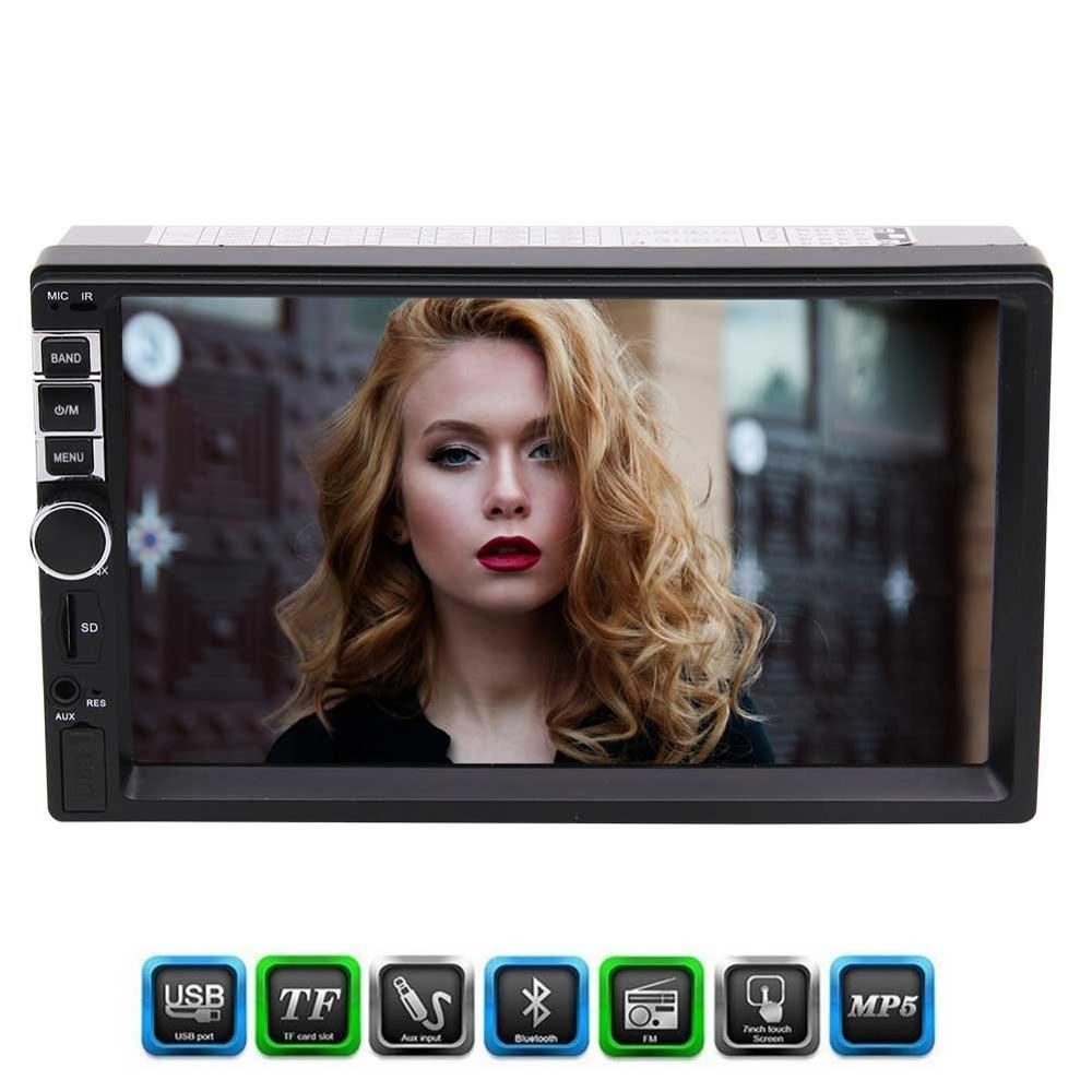 Auto-Radio MP5 Player Eincar 7'' Car Radio Stereo Head Unit Rearview Camera Support Bluetooth/USB/TF FM Aux input/Remote Control цена
