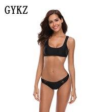 Купить с кэшбэком 2019 Sexy Fashion Womens bikini Swimsuit Swimwear Push Up Monokini dysuit Beach Bathing Suit Swim emale Retro Beachewear