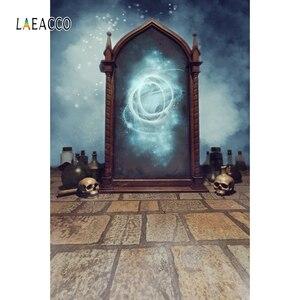 Image 4 - Laeacco مرآة سحريّة قديمة زجاجة الجرف الجرونج خمر صورة التصوير خلفية الصورة خلفية الطفل Photophone استوديو الصور