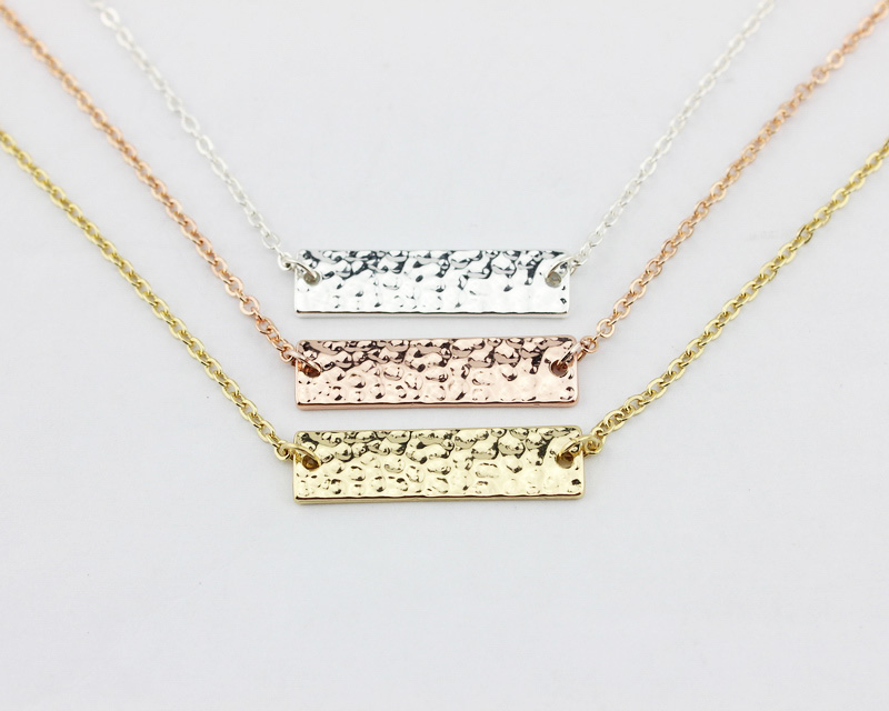 Online Get Cheap Horizontal Gold Bar Necklace Aliexpress