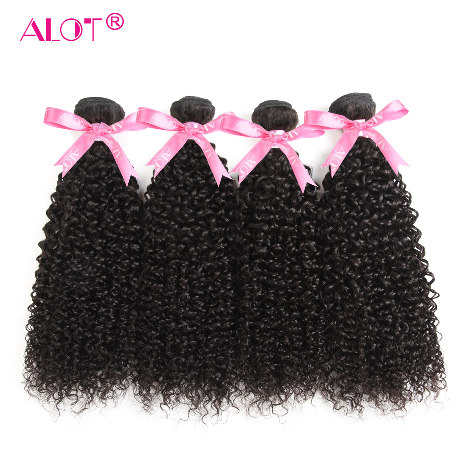 Mongolian Kinky Curly Hair Non-Remy 4 Bundles Human Hair Extension 8--28inch 100g/pcs Natural Black Color Hair Weave ALOT Hair