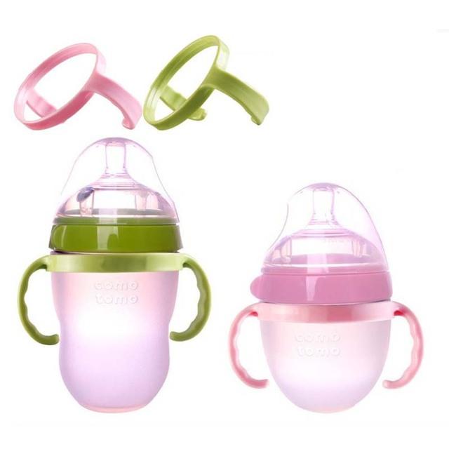1Pcs Generic Bottle Handles for Como Tomo Comotomo Silicone Baby Feeding Bottle PP material baby bottle grip handle
