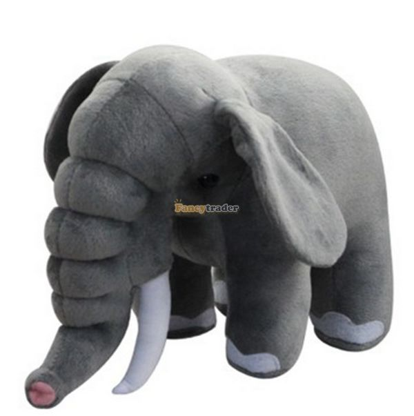 Fancytrader 31'' / 80cm Rare Stuffed Big Plush Grey Emulational Africa Elephant Toy, Great GIft For Kids, Free Shipping FT50165 fancytrader 2015 new 31 80cm giant stuffed plush lavender purple hippo toy nice gift for kids free shipping ft50367