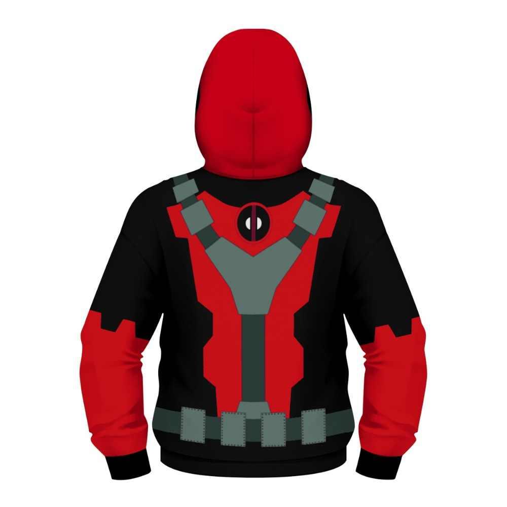 Máscara con cremallera para niños chaqueta Star Wars los Vengadores Capitán América iron Man Darth Vader Spiderman niños Sudadera con capucha abrigos