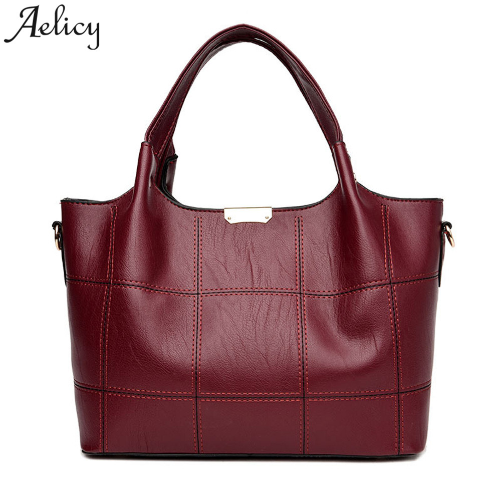 Aelicy Girl Shoulder Bag Fashion Leather Women Handbag large Tote lady Crossbody Bag bolsa feminina dropshipping 2018 hot sac women shoulder bag top quality handbag new fashion hot lady leather purse satchel tote bolsa de ombro beige gift 17june30