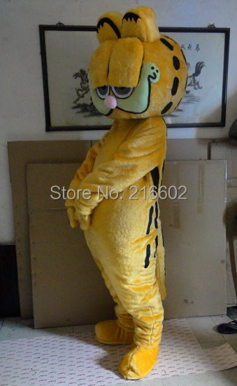 High quality garfield mascot costume christmas party carnival bizarre dress adult size free shipping