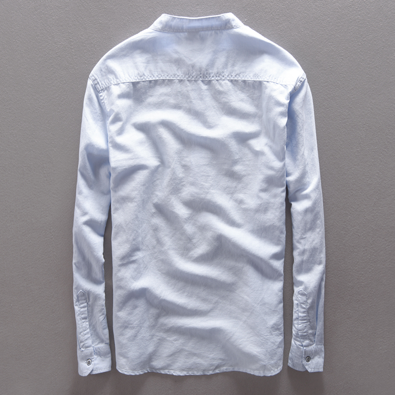 Italija Suhaiwe's blagovna znamka bombažna moška srajca z dolgimi - Moška oblačila - Fotografija 2