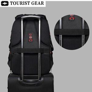 Image 3 - Mochilas suíças dos homens bolsa de viagem negócios anti roubo mochila masculino usb de carregamento 15.6 17 polegada portátil mochila à prova dwaterproof água