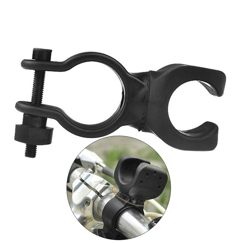 Outdoor Cycling Bicycle 360 Degree Rotary Bike Clip Holder Bracket For Flashlight Lamp Bicycle Front Light Support Useful Props