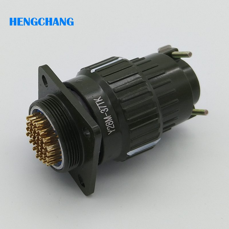 цена на 28mm Y28M YP28-37pins aviation plug aviation socket cable joint 28mm Stepper Motor Aviation Connector Plug socket