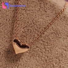Newest Fashion Women Gold Heart Bib Statement Chain Pendant Necklace Jewelry