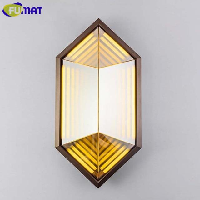 FUMAT LED Rhombus Wall Lamps Modern Art Deco Wall Light Bedroom ...