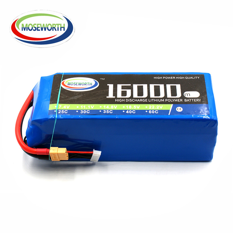<font><b>4S</b></font> RC Drone <font><b>LiPo</b></font> battery <font><b>4S</b></font> 14.8V <font><b>16000mAh</b></font> 25C Batteries For RC Aircraft Car Quadcopter Helicopter Airplane Boat Battery <font><b>LiPo</b></font> <font><b>4S</b></font> image