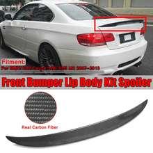 Настоящее углеродное волокно высокий удар автомобиля спойлер заднего багажника, крыла для BMW E92 Coupe 328i 335i M3 2Dr 2007-2013 гоночный спойлер крыло губы