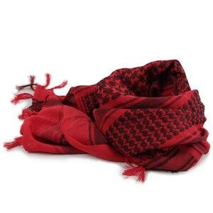 Image 4 - Airsoft הצבאי Shemagh לעבות מוסלמי חיג אב תכליתי טקטי צעיף צעיף ערבית כפיית צעיפי אופנה צעיף נשים