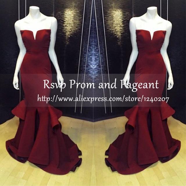 2989bfc3c04dd0 Gorgeous Mermaid Long Prom Dress Sweetheart Neckline Off The Shoulder  Stretch Satin Floor Length Burgundy Prom Dresses 2017