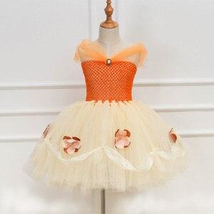 Image 5 - נסיכת Moana טוטו שמלת בנות מסיבת יום הולדת להתלבש ילדי תחרה טול פרח שמלת ילדה ילדים ליל כל הקדושים Cosplay תלבושות