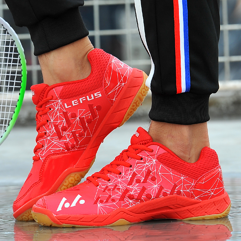 1a89a6a0d Aliexpress.com : Buy Couples Badminton Shoes Spring Autumn Fitness Women  Sneakers Rose Red Sky Blue Trainers Shoes Anti Slip Indoor Sports Shoes Men  from ...