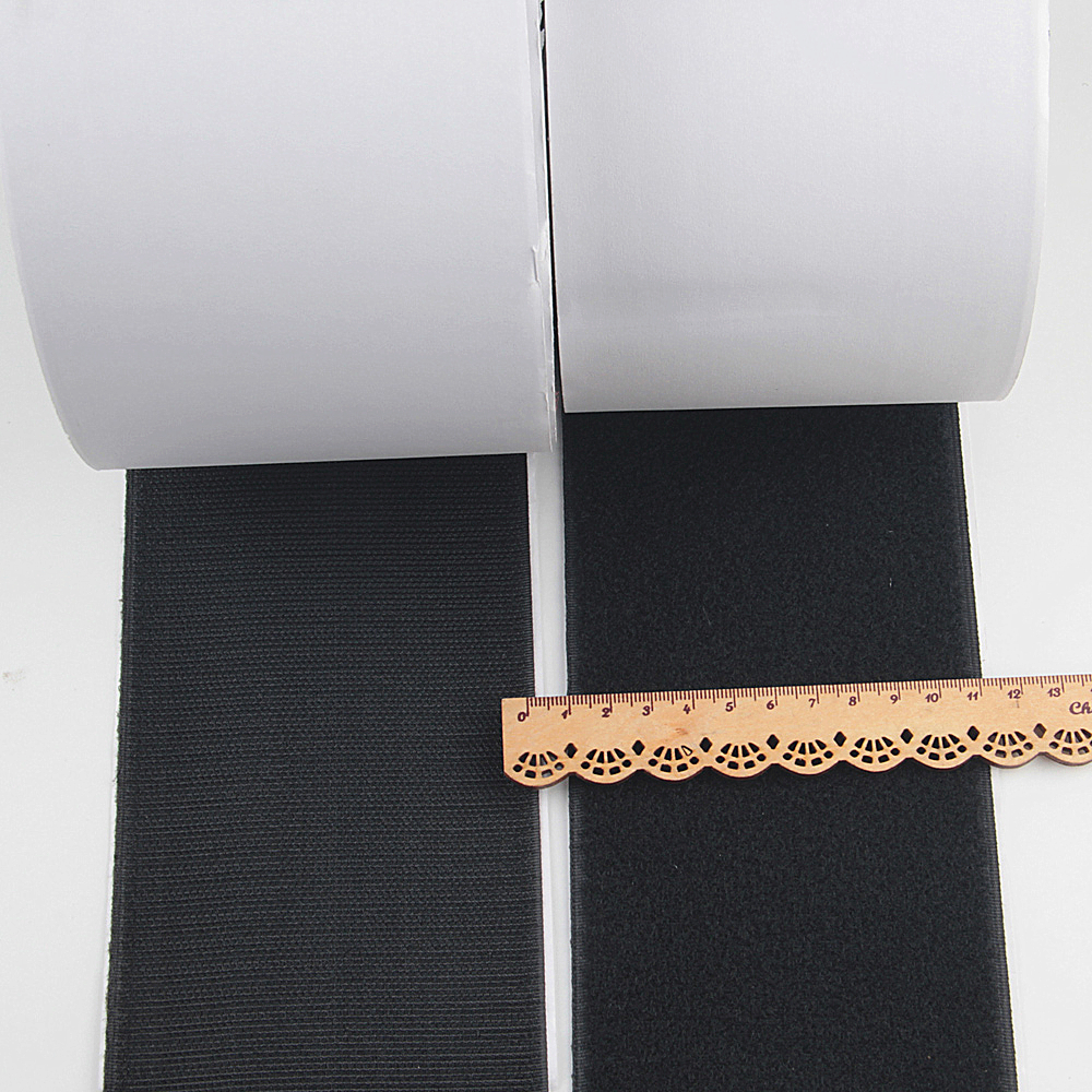 Hook Loop Tape 20pcs Strong Mounting Strips Removable Wall Fastener Tape Anti-Slip Carpet Gripper Interlocking Tape for Home Office Black Double Sided Adhesive Sticky