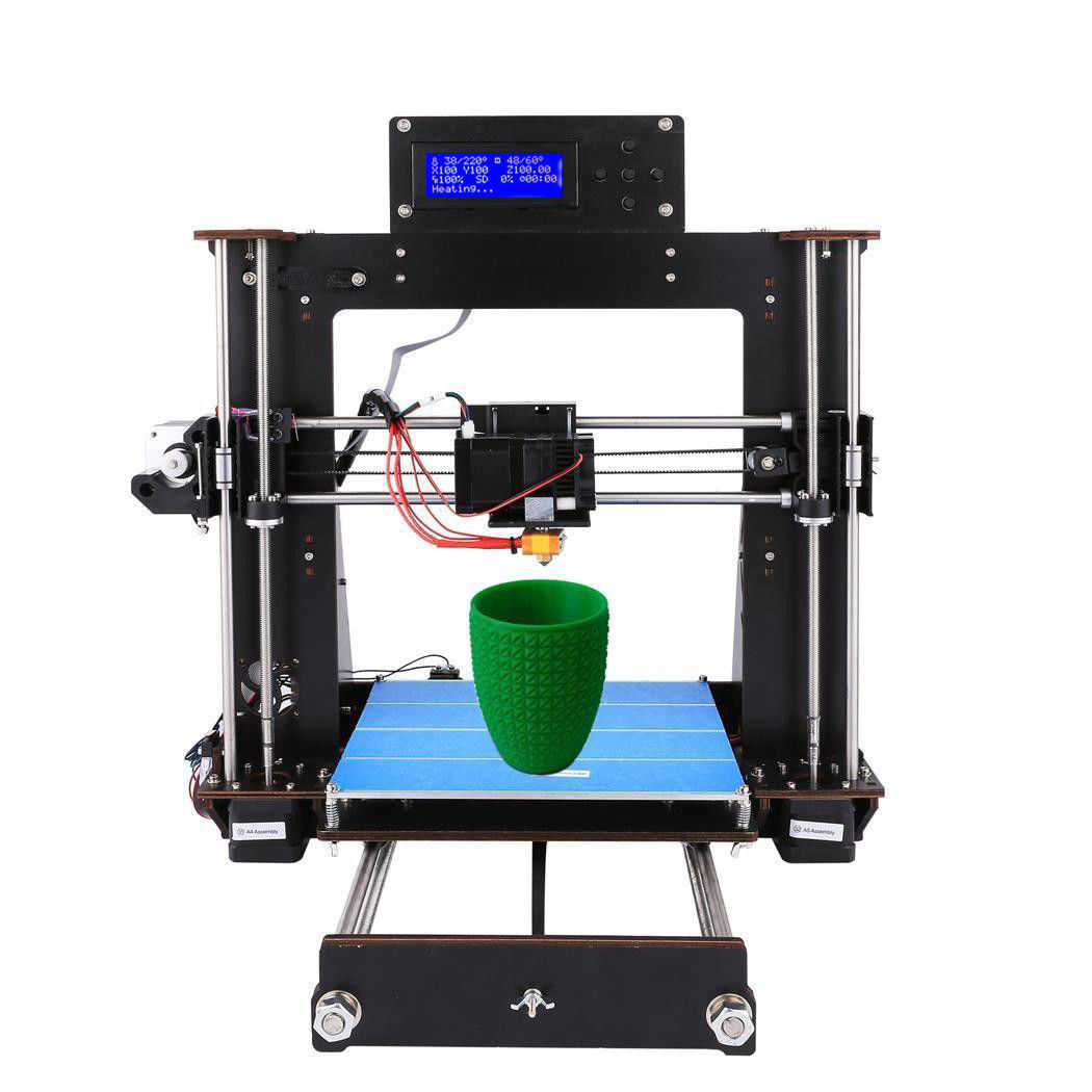 2018 New 3D Printer DIY i3 Upgradest High Precision Reprap Prusa 3d Drucker PLA 2016 upgrade free shipping 3d printer high precision reprap prusa i3 220 220 240mm 3d printer diy kit 0 5kg filament 8g sd card