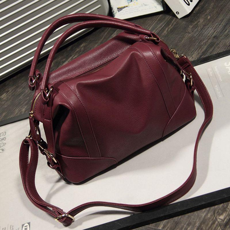 longmiao 2017 새로운 여성 큰 어깨 가방 가죽 브랜드 빈티지 디자이너 핸드백 고품질 여성 가방 Bolsa Femininas