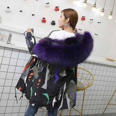 Jacket Women Winter Parkas Long Big Fox Fur Collar Hooded Coats 2018 Ladies Fur Linen Thickened Warm Jackets Plus Size Coat LZ962 (13)