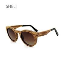 Nouvelle Ronde lunettes de Soleil En Bois De Mode Vintage En Bois Cadre  Hommes Femmes Anti-UV 400 Revêtement Miroir Polarisé Len. 355a8a9b22dc