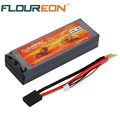 FLOUREON 7.4V 5200mAh 30C Lipo Li-polymer RC Battery TRX Traxxas Plug for RC Evader BX Car Truck Truggy RC Hobby with hard case