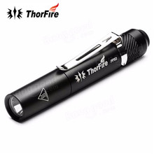 ThorFire PF03 110LM 3 modes LED Pen Flashlight Super Bright Mini LED Pen Light for Pocket light Torch with clip By AAA Battery