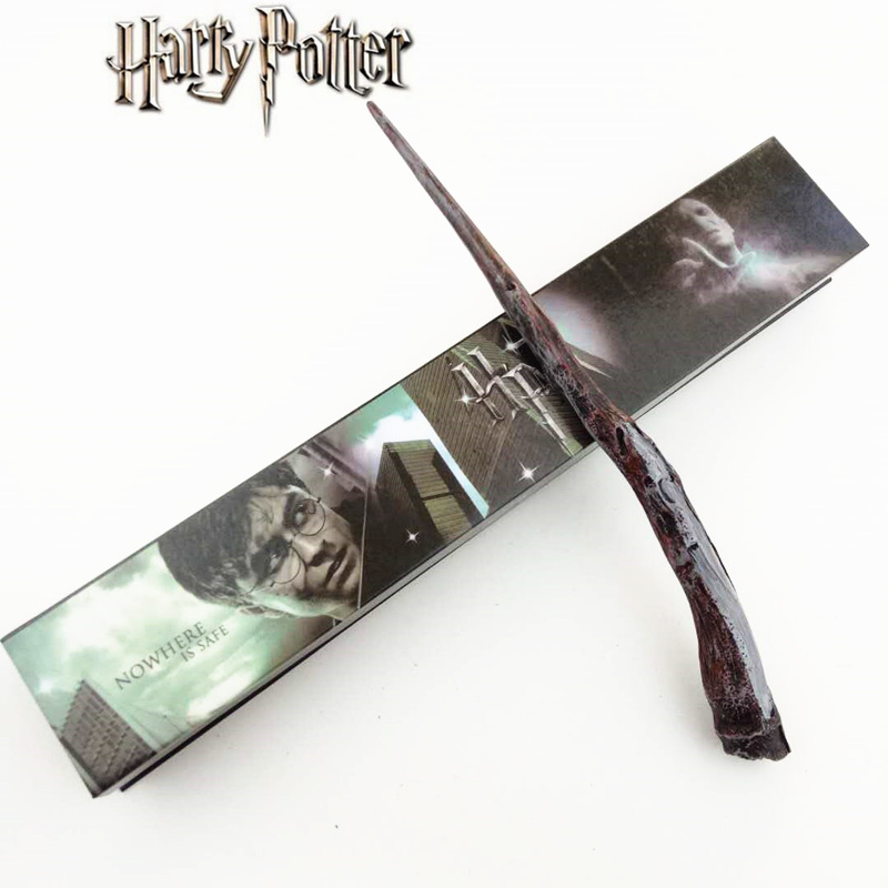 Cosplay Bellatrix Lestrange Play Magical Magic Wand Gift In Box Metal Core Harry Potter Magical Wand