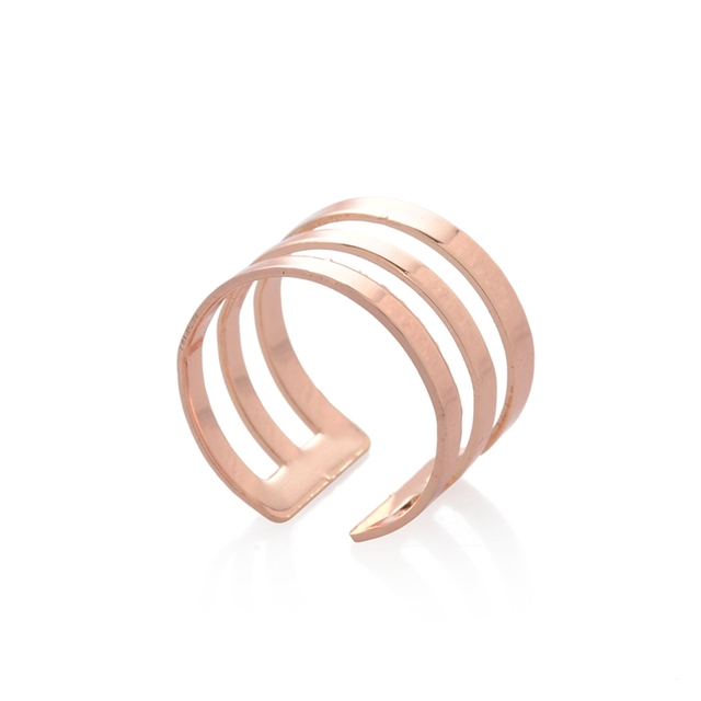 3 Row Textured Knuckle Ring