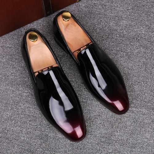 De Gold Casual Verni Sur Britannique Confortable Couleurs Cuir Reconstitué Chaussures Discothèque En 3 Robe wine Glissement Red Hommes pdZqZ