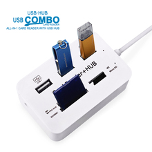 Micro usb 3.0 hubs Multifunction USB Combo High Speed 3 usb Ports+SD/TF Card Reader 3.1 Type-c For Computer Accessories Hub USB