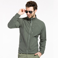 Men's Fashion Autumn Fleece Jacket Military Tactical Grid Coats Warm Windproof Outerwears High Quality Breathable Jacket LA646