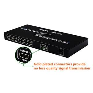 Image 3 - 4 יציאות HDMI מתג חלקה Switcher 4x1 רב הצופה מתאם, מלא HD1080P, עבור XBOX 360 PS4/3 חכם אנדרואיד HDTV משלוח חינם